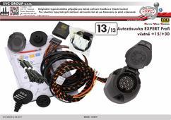 13 Pinová originální elektro přípojka pro tažné zařízení Expert profi Plně osazená zásuvka i pro karavan +15/+30  Zástupce pro CZ a SK SVC GROUP s.r.o.