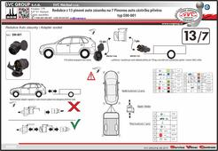 Redukce tažné zařízení 13/7 pinů  Výrobce tažných zařízení SVC GROUP s.r.o