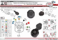 Zapojení auto zásuvky 13 pinů Expert profi  Auto zásuvka je plně vybavená i pro rozšířené funkce obytných přívěsů   SVC GROUP