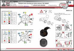 Návod zapojení auto zásuvky 7 pinů   Výrobce tažných zařízení SVC GROUP