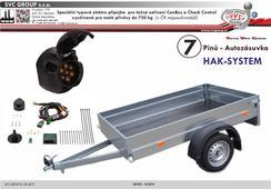 Speciální elektro instalace pro tažné zařízení 7 pinů