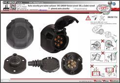 7P pólová auto zásuvka s těsněním pro všechny typy tažného zařízení Český výrobce SVC GROUP