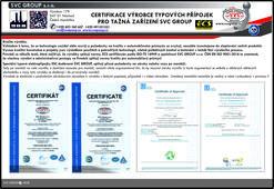 Homologace certifikace výrobku  Audi přípojky pro tažné zařízení. Českého výrobce tažných zařízení SVC GROUP