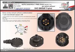 7 Pinová auto zásuvka s těsněním pro všechny typy tažného zařízení Český výrobce SVC GROUP s.r.o.