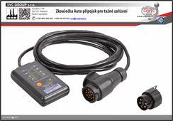 Vhodné pro testování elektrických obvodů tažných zařízení schválené pro technické kontroly vozidel. Dvě LED diody ukazují proud v okruh a polaritu. Dodáváno s redukcí na 7 pinové zásuvky. SVC GROUP dodavatel