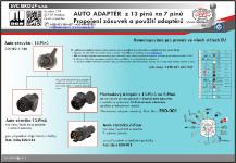 Typová elektro přípojka pro tažné zařízení  od  Českého dodavatele SVC GROUP
