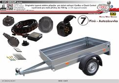 7 pólová elektro přípojka pro tažné zařízení originální  HY-027-BB