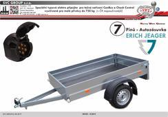 7 pólů speciální typová elektro přípojka pro tažné zařízení od Českého výrobce tažného zařízení SVC GROUP