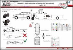 Adaptér pro tažné zařízení 13 pinovou auto zásuvkou na 7 pólovou auto zástrčkou přívěsu / nosiče kol. SVC GROUP Výrobce tažných zařízení