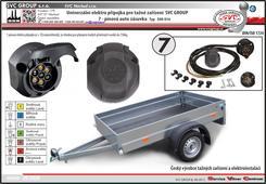 7 pólová elektro instalace pro tažné zařízení