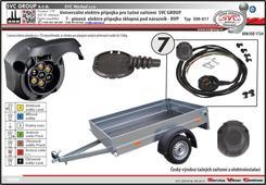 7 Pinová univerzální elektroinstalace pro tažné zařízení s SKL.