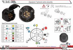 7 auto zásuvka a zapojení