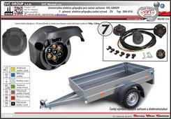 7 pólová elektroinstalace pro tažné zařízení.  Zadní vývod vodičů z auto zásuvky.  SVC GROUP.