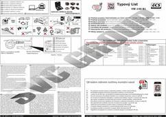 Originální typová elektroinstalace typový list pro tažné