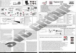 Typový list elektroinstalace pro tažné zařízení