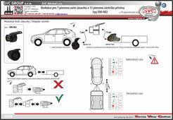 Redukce k tažnému zařízení 7 pólů na voze a 13 pólů na přívěsném vozíku Dodavatel SVC Náchod