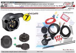 Elektro přípojka 7 Pólů Univerzální Can Bus a tažné zařízení Bez požadavku na automatické odpojení couvacích senzorů a mlhového světla výrobce SVC GROUP