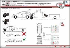 adaptéru pro přechod z 13/8 pinové auto zásuvky na 7 pinovou auto zásuvku Dodavatel SVC GROUP