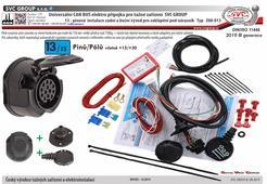 Elektro instalace 13 pro tažné zařízení Can Bus, pro vozidla bez parkovacích senzorů nebo s vypínačem parkovacích senzorů(PDC) na přístrojové desce