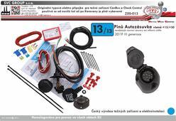 13 Pólový auito elektrika pro tažné zařízení uni Can Bus. Pro vozidla bez parkovacích senzorů nebo s vypínačem parkovacích senzorů(PDC) na přístrojové desce