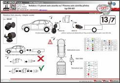adaptér pro tažné zařízení 13 pólové auto zásuvky na 7 pólů na přívěsném vozíku