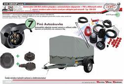 7 pólová elektro instalace pro tažné zařízení  S automatickým odpojováním  couvacích senzorů a mlhového světla na voze.  Vhodný pro přípojná vozidla o celkové hmotnosti do 750 kg