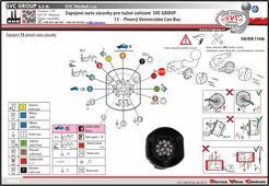 Auto zásuvky 13 pólů montážní návod tažné zařízení www.svcgroup.cz