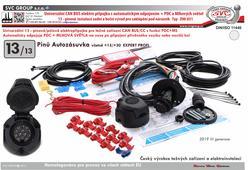 elektro pro tažné zařízení 13 P   Univerzální  13 pólová elktro instalace CanBus/CC+PDC
