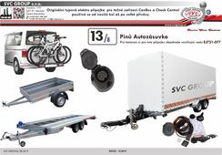 Elektroinatalace přípojka pro tažné zařízení SVC Jeager 13/8 748288