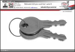 Náhradní klíče pro nosiče kolna tažné zařízení K001