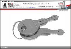Náhradní klíče pro nosiče kolna tažné zařízení K003