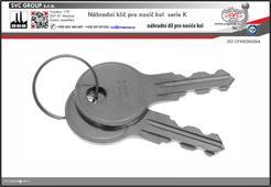 Náhradní klíče pro nosiče kolna tažné zařízení K004