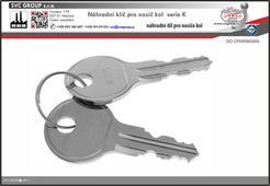 Náhradní klíče pro nosiče kolna tažné zařízení.