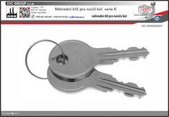 Náhradní klíče pro nosiče kolna tažné zařízení K007