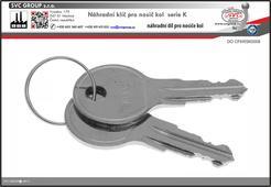 Náhradní klíče pro nosiče kolna tažné zařízení K008