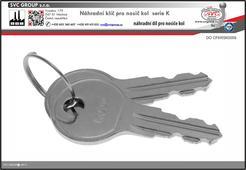 Náhradní klíče pro nosiče kolna tažné zařízení K009