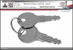 Náhradní klíče pro nosiče kolna tažné zařízení K010