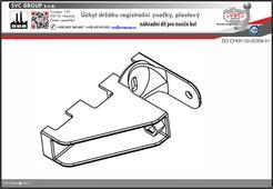 Úchyt držáku registrační značky pro držák kol na tažné zařízení
