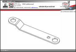 Klíč pro montáž nosiče kol na tažné zařízení