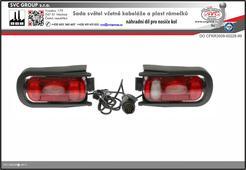 Držáky světel pro nosiče kol na tažné zařízení.