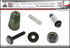 Sada pro výměnu opotřebené vložky pro spojení tažného zařízení a nosiče kol