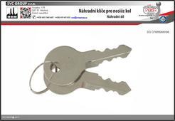 Náhradní klíče pro nosiče kolna tažné zařízení. SVC GROUP
