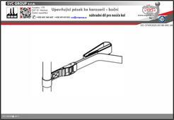 Upevňující pásek ke karoserii - boční pro nosič 3 kol na zadní dveře vozu