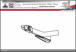Upevňující pásek ke karoserii - horní a dolní pro nosič 3 kol na zadní dveře vozu