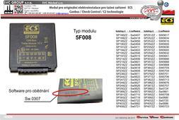 modul pro elektro instalace ECS  Originální přípojky pro auta 5F008 tažné zařízení SVC GROUP
