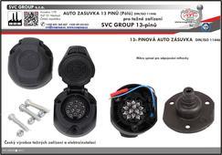 13P auto zásuvka pro tažné zařízení  včetně mikro spínače pro volitelné Výrobce tažných zařízení SVC GROUP