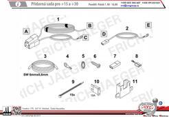 Rozšiřujícií sada elektropřípojky pro spínání +15 pro Ford Transit Custom