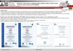 Homologace certifikace výrobku pro Audi přípojky pro tažné zařízení. Českého výrobce tažných zařízení SVC GROUP