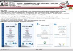 Homologace certifikace výrobku pro rozšiřující sadu +15 a +30 pro 13 pinové přípojky tažných zařízení. Český výrobce tažných zařízení SVC GROUP