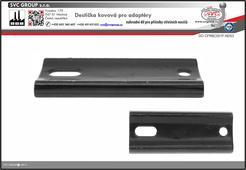 Destička kovová pro střešní nosiče   Český výrobce tažných zařízení SVC GROUP
